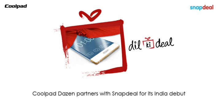 China's Coolpad Dazen Joins Hands with Snapdeal