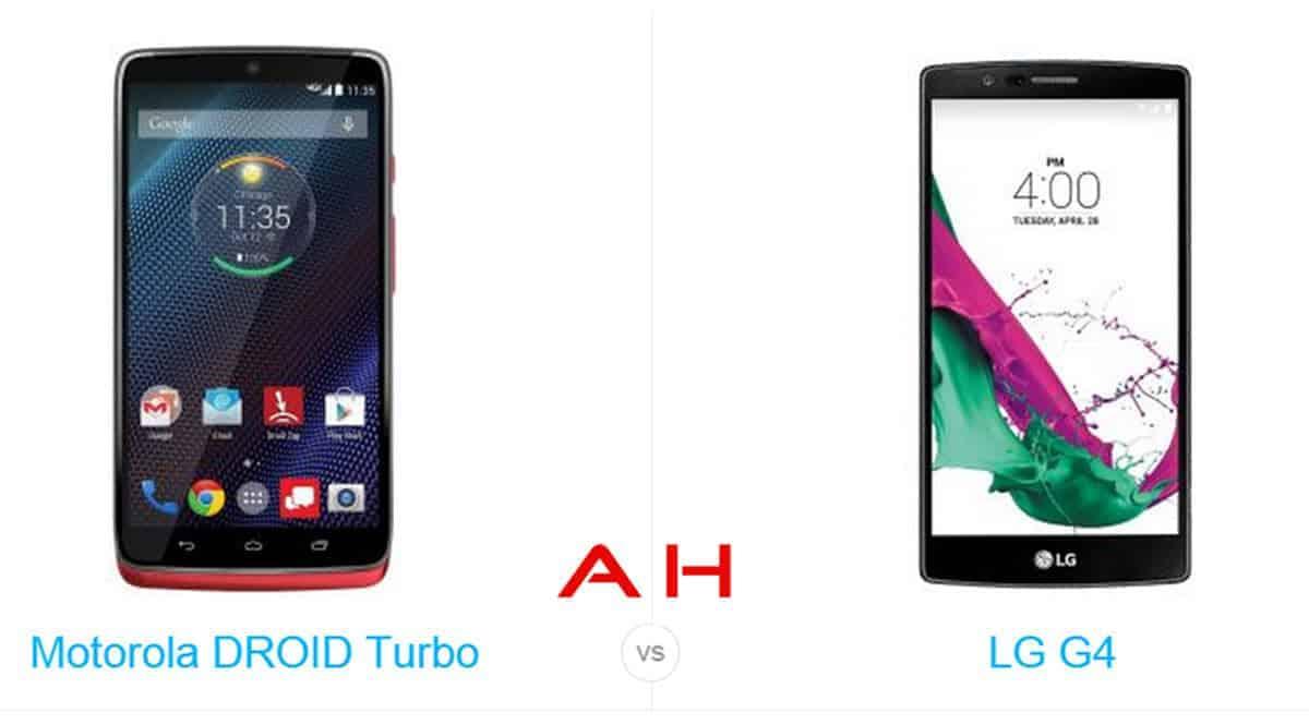 Droid Turbo vs LG G4 cam AH