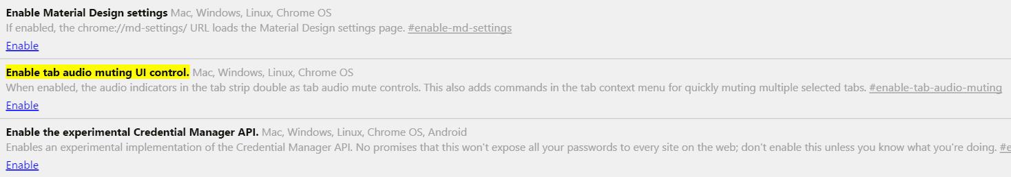 Enable Audio Icon Mute