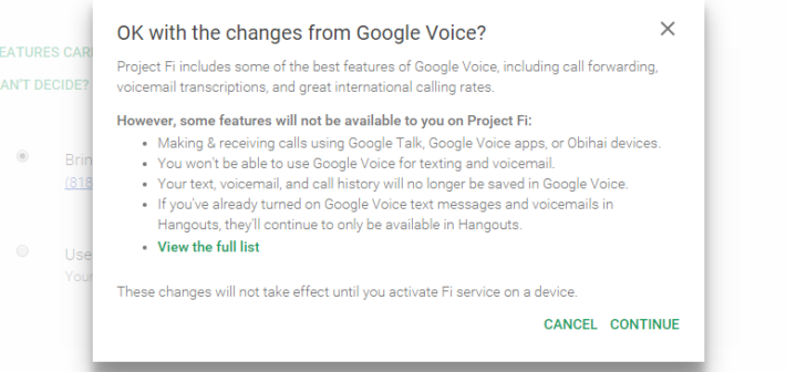 Signing up for Project Fi? You can keep your Google Voice number!