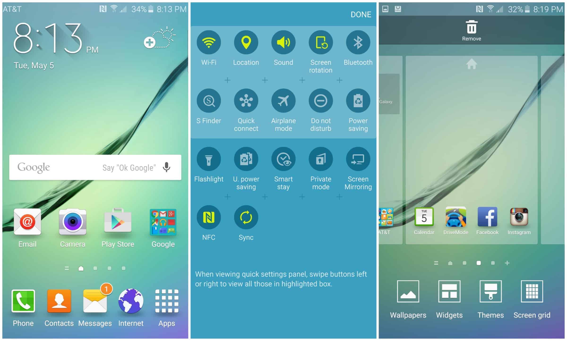 Galaxy S6 Edge Screens