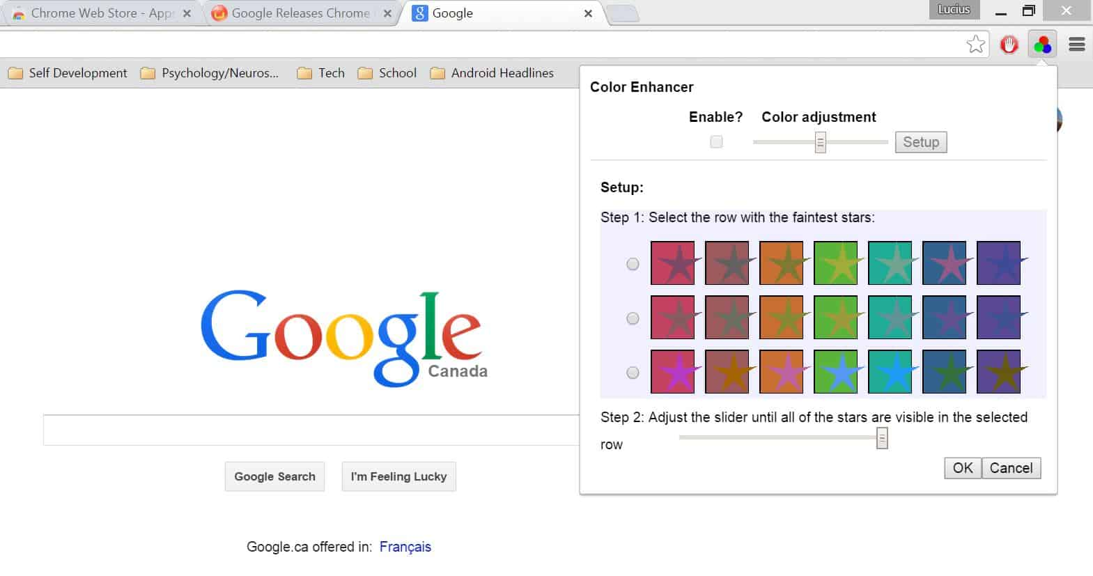 Google Color Enhancer