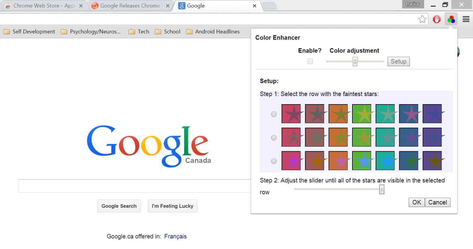 Google Color Enhancer