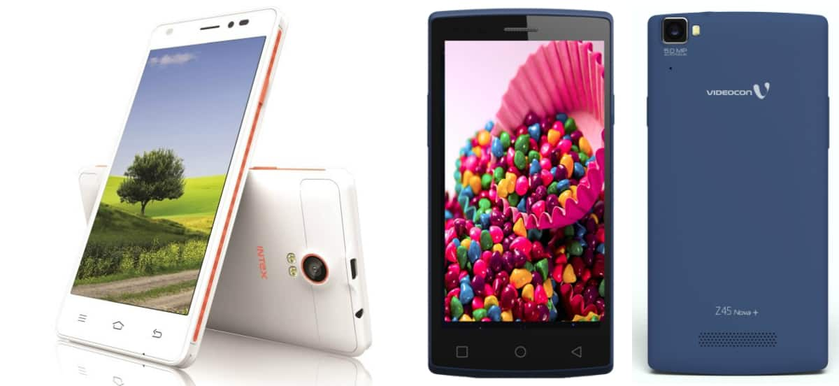 Intex and Videocon budget phones India