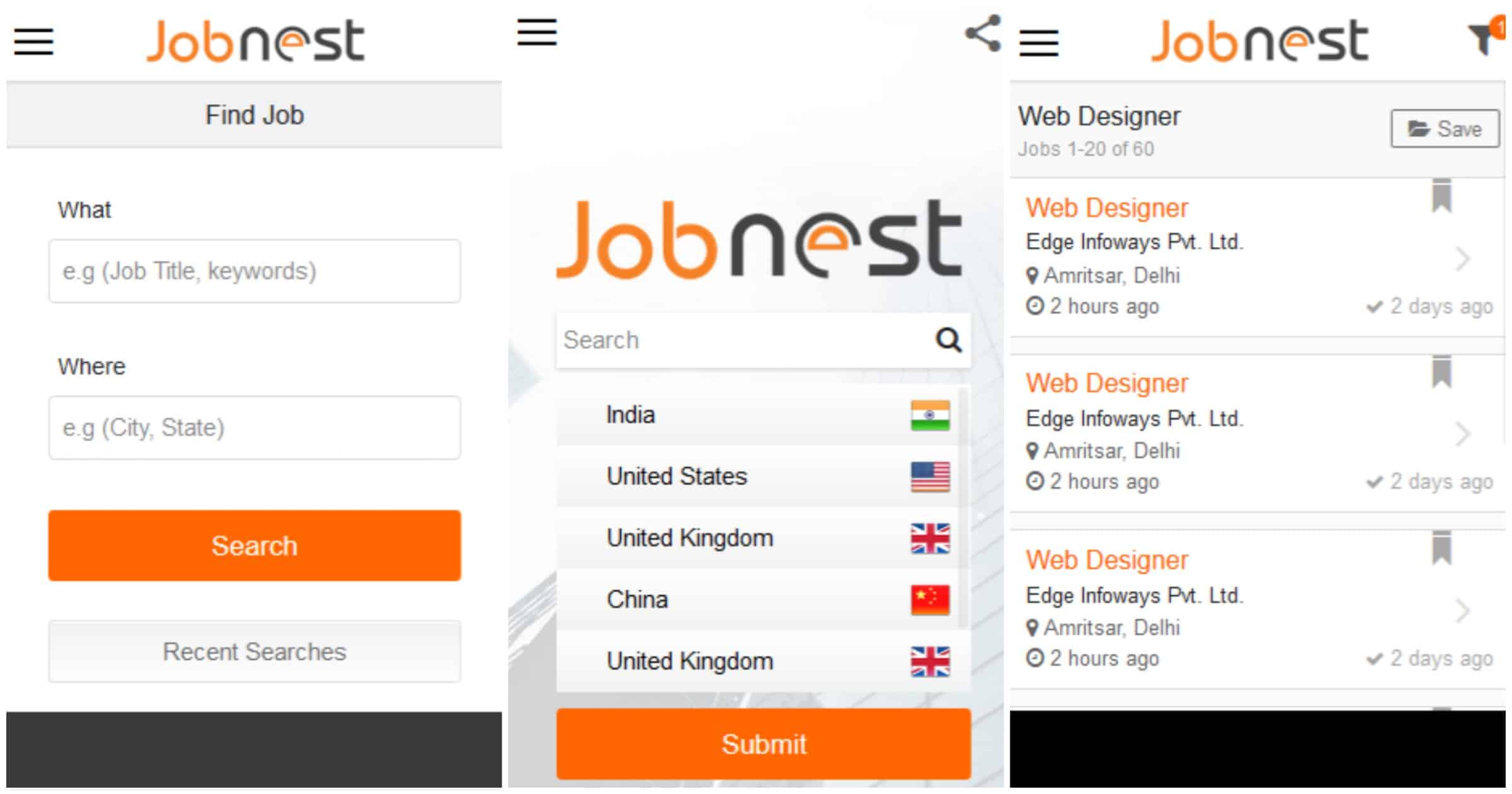 featured top job search apps for android com closing out today s list is job nest this is another newcomer to the job searching arena as such it is a little light in terms of numbers