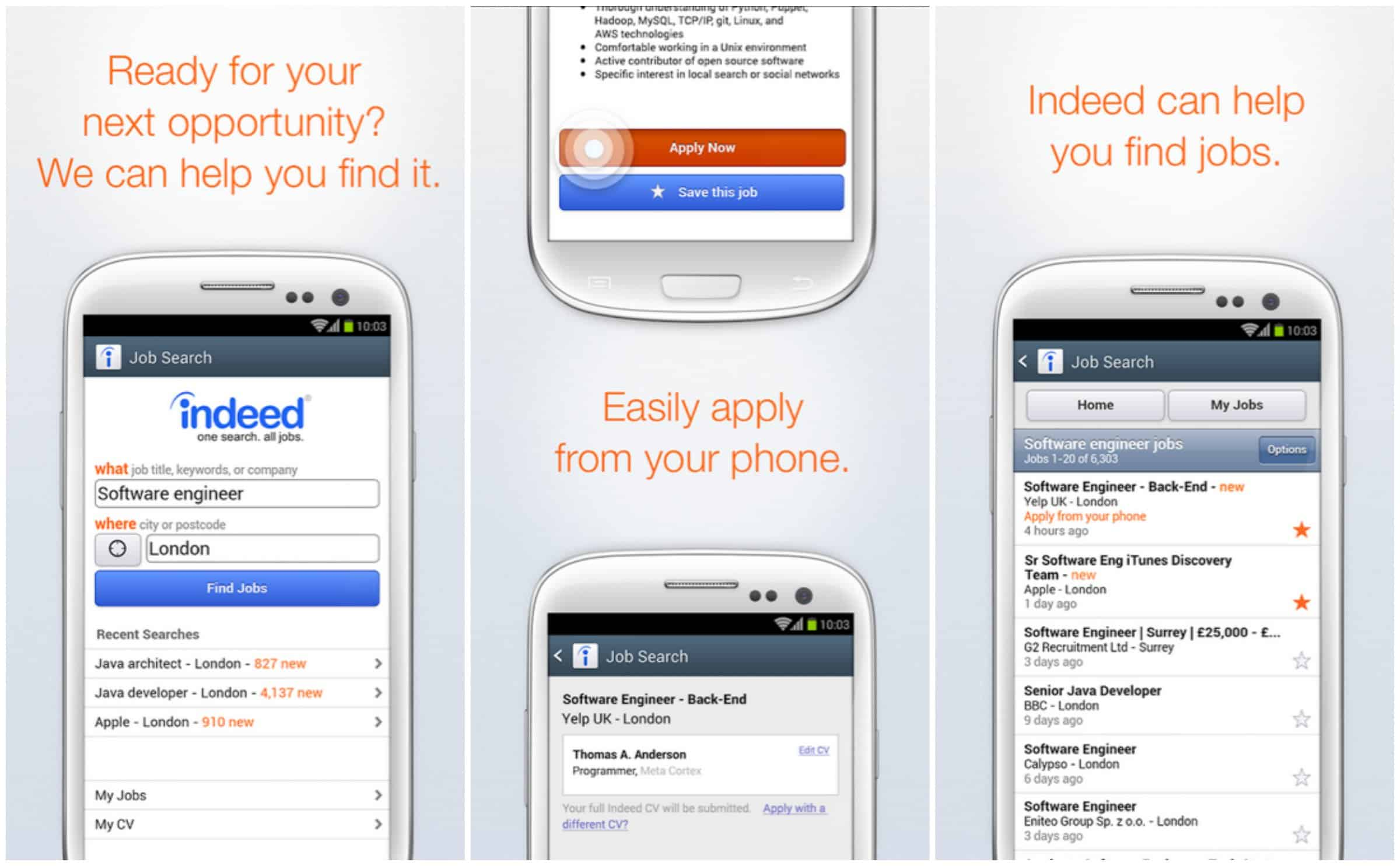 featured top job search apps for android com starting off today s list is job search this is an app from one of the more well known job search companies indeed and offers the ability to search from