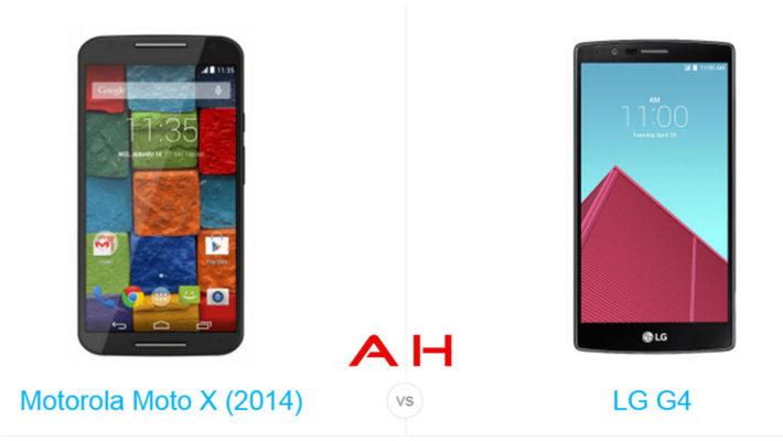 Phone Comparisons: Motorola Moto X (2014) vs LG G4