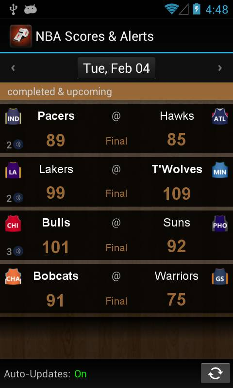 NBA Scores and Alerts