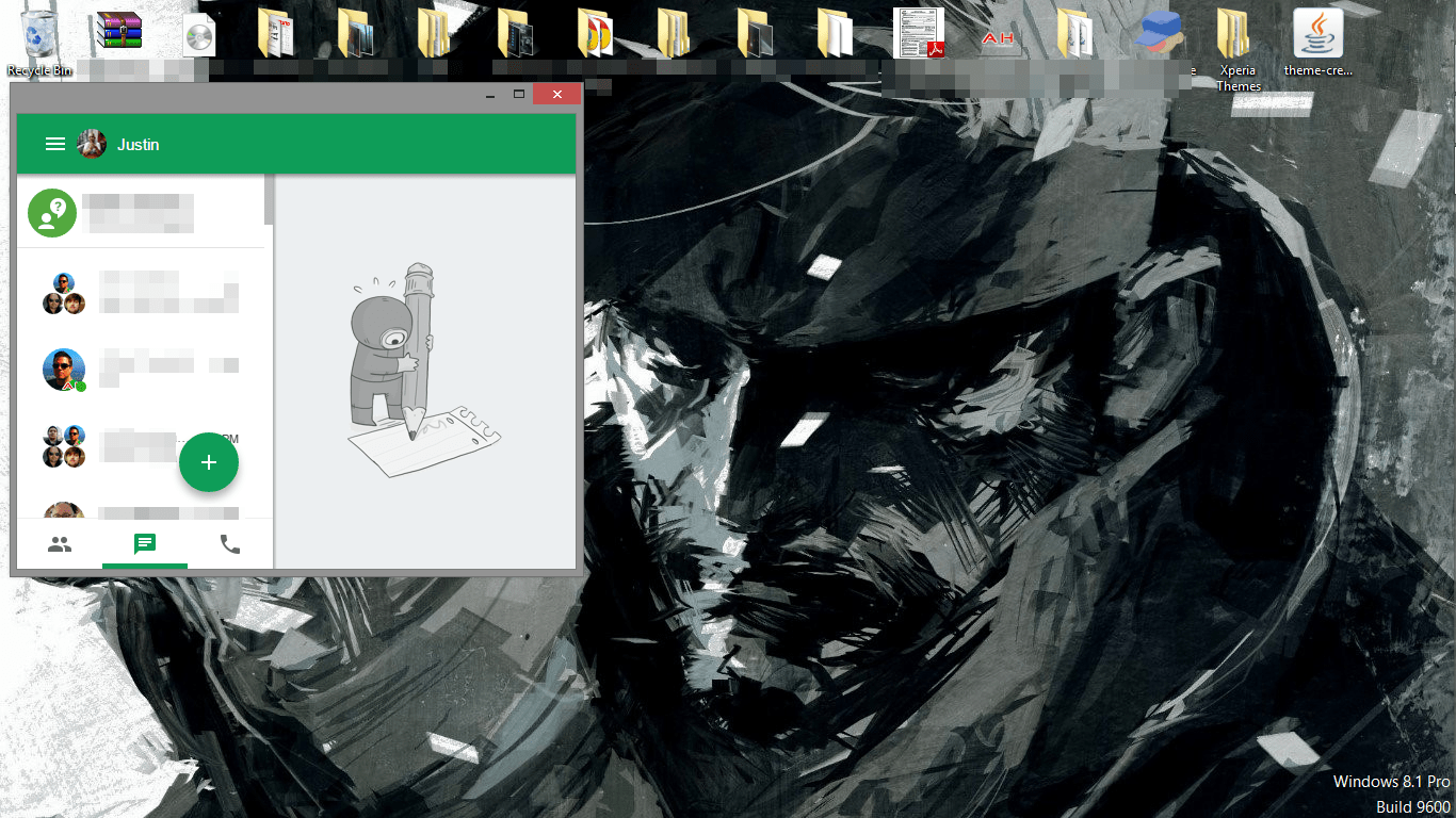New Hangouts UI