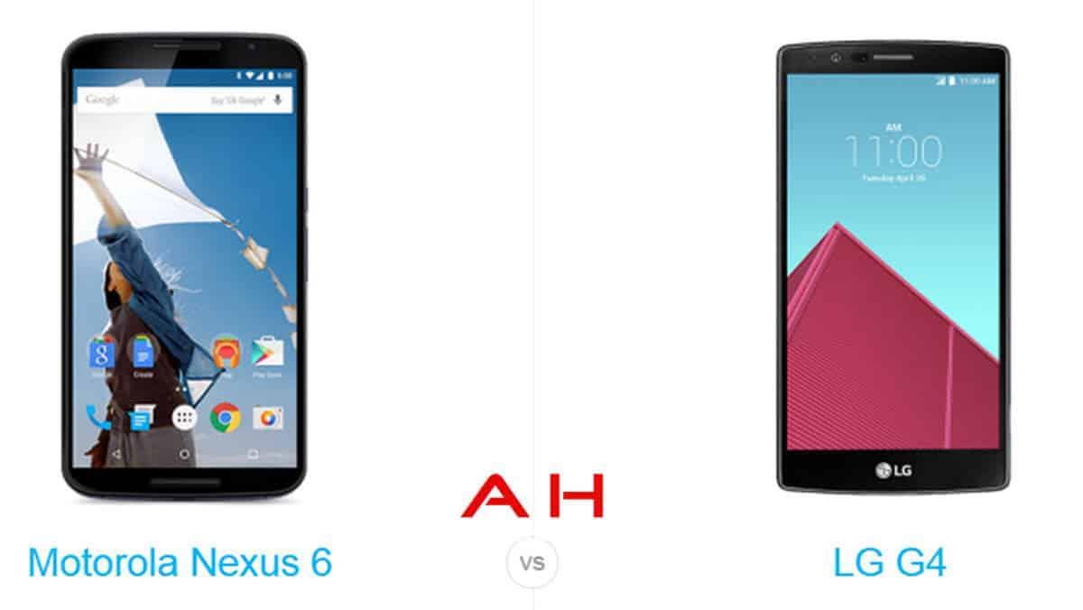 Nexus 6 vs LG G4 cam AH