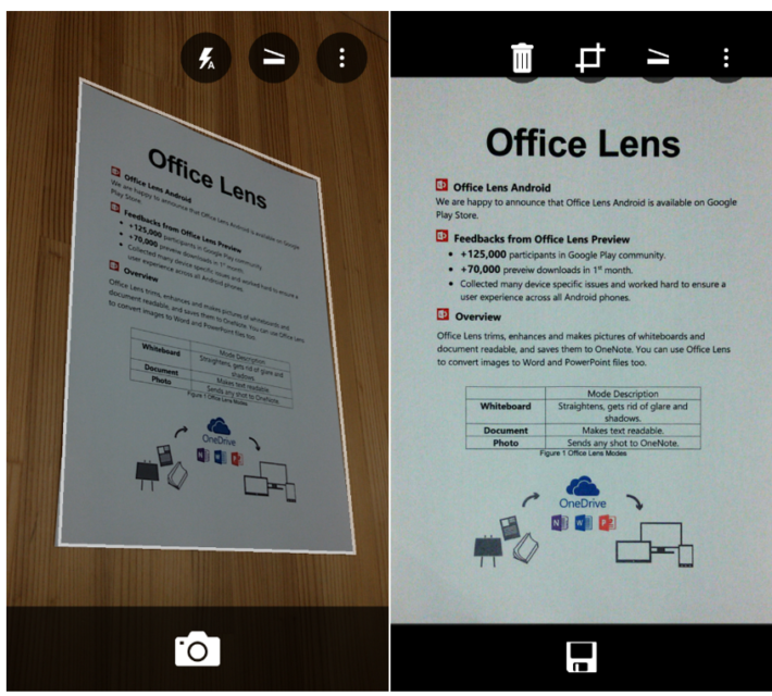 Microsoft Release Office Lens for Android