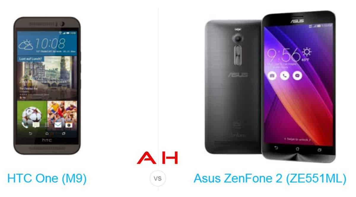 One M9 vs Zenfone 2 cam AH
