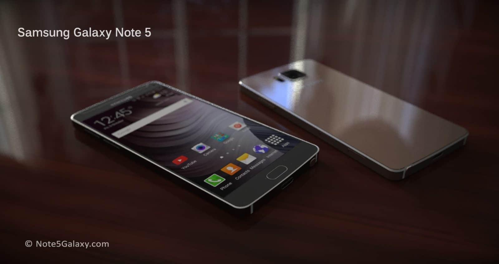 Samsung Galaxy Note 5 Render KK