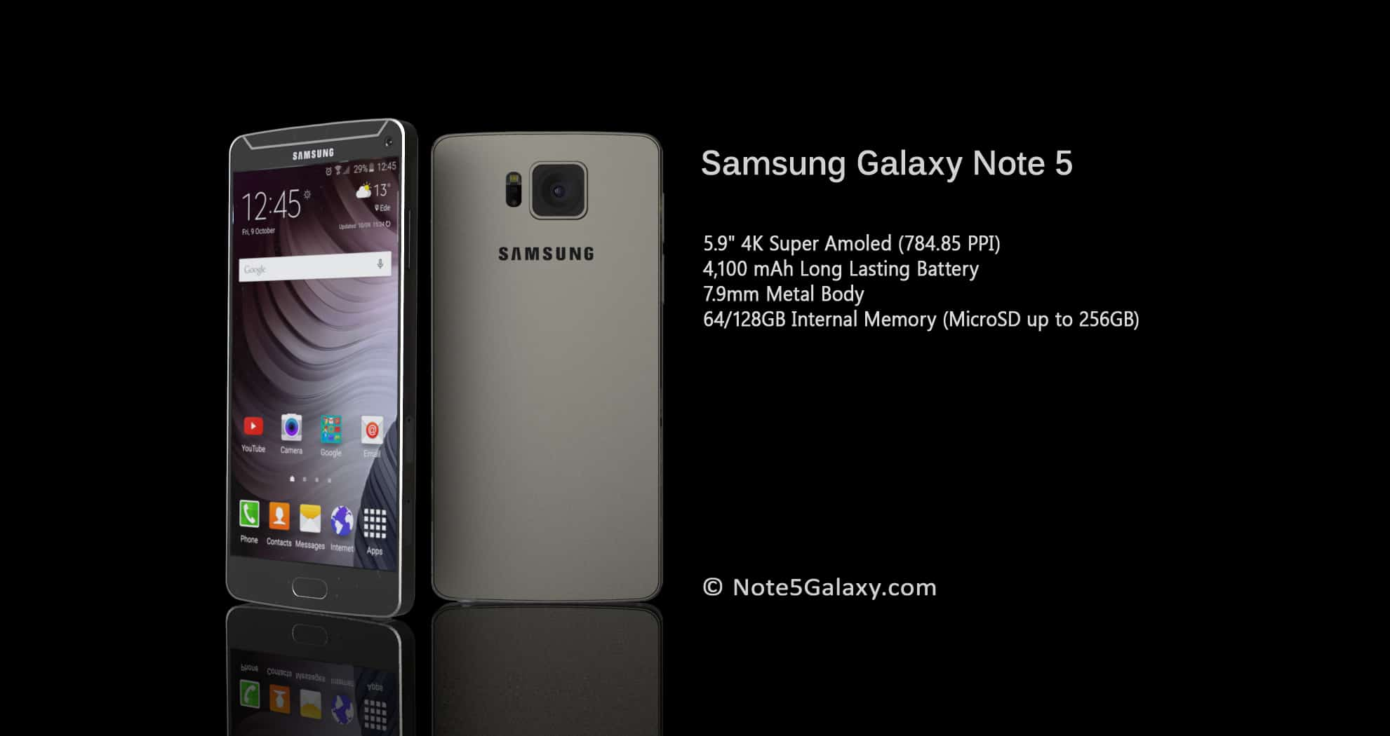 Samsung Galaxy Note 5 Render2 KK