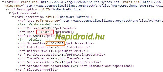 Samsung Galaxy S6 Active SM-G890A UserAgent Profile