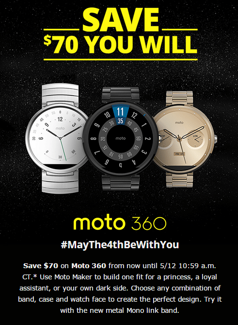 Moto 360 May The 4th Be With You