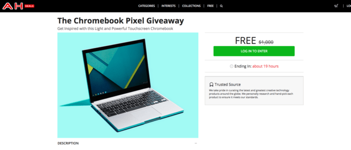 Last Chance to Enter the Chromebook Pixel Giveaway!