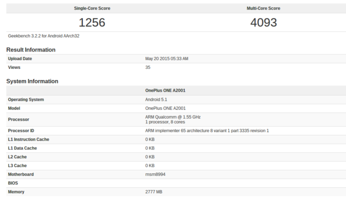 Unknown OnePlus Device Looks To Have Been Benchmarked