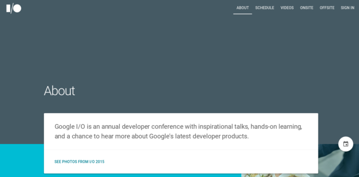 Google's I/O 2015 Web App Released As Open Source