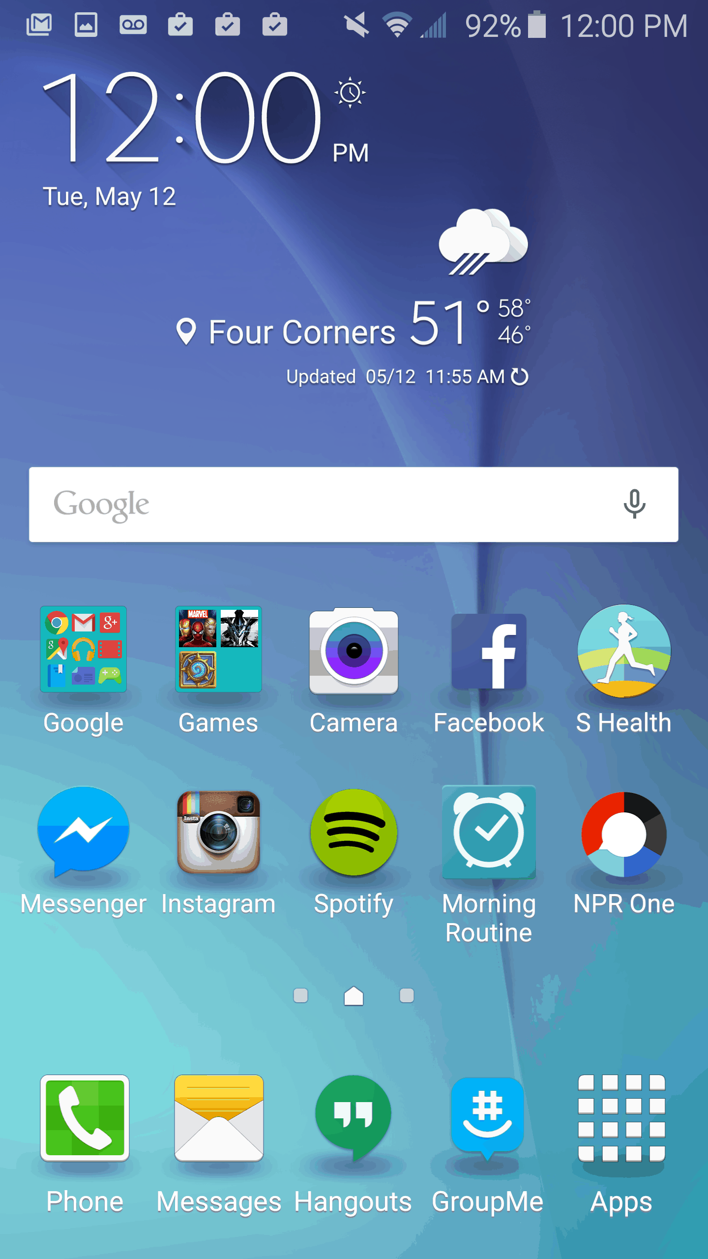 Android how to alter the screen grid on the samsung for Wallpaper home screen android