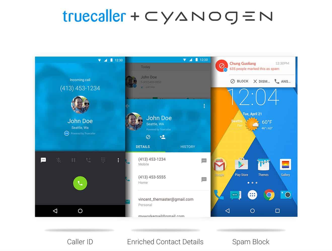 Truecaller & Cyanogen Promo Graphic