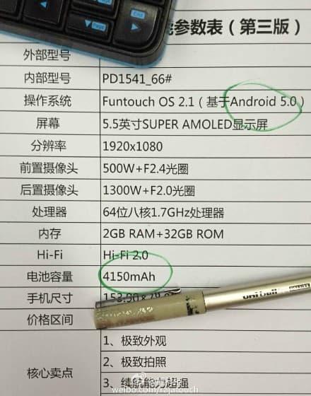 Vivo X5Pro leaked specs_1
