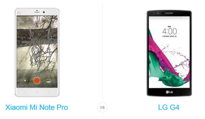 Phone Comparisons: Xiaomi Mi  Note Pro (4G LTE) vs LG G4