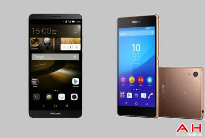 Phone Comparisons: Huawei Ascend Mate 7 vs Sony Xperia Z4