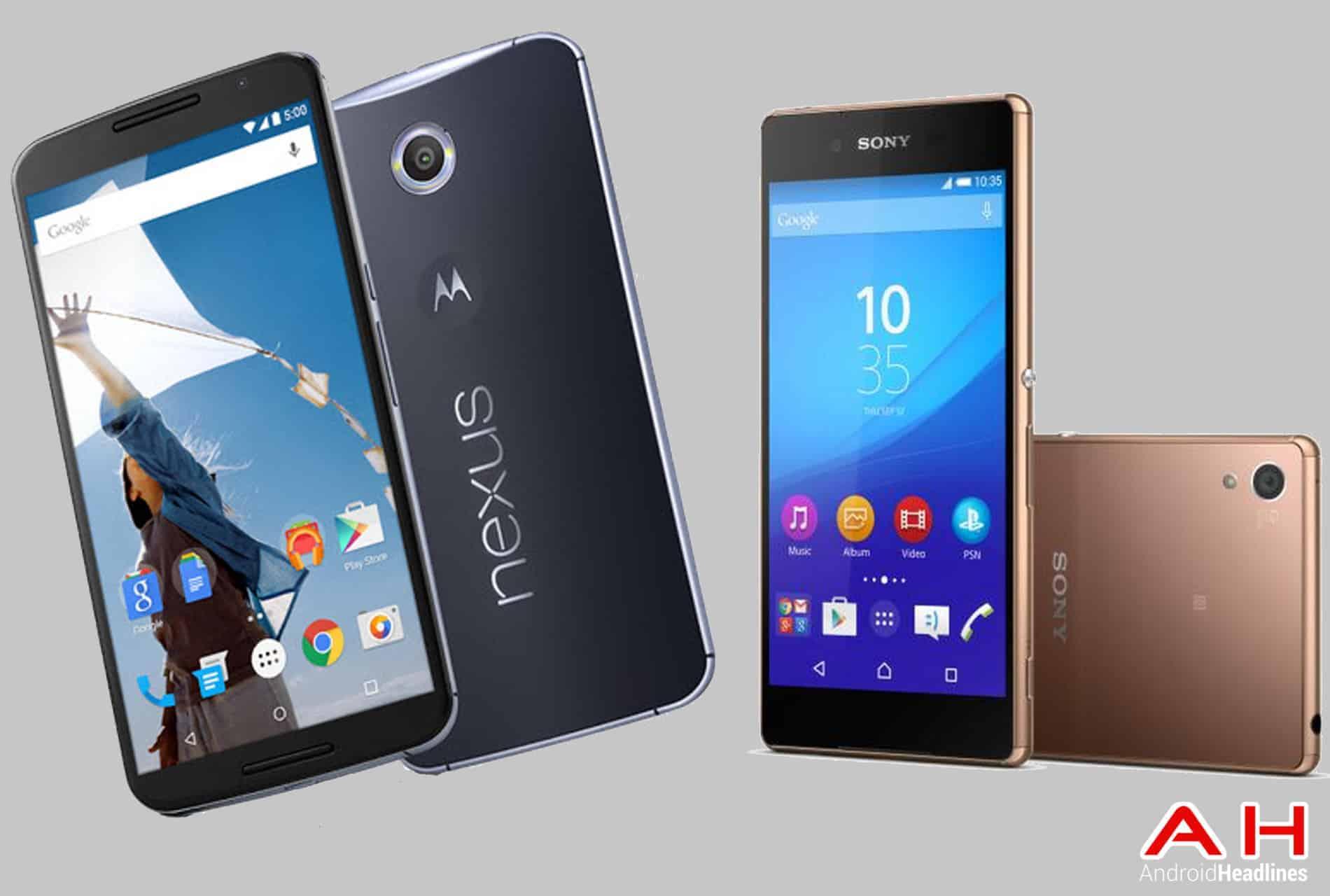 Xperia Z4 vs Nexus 6 cam AH