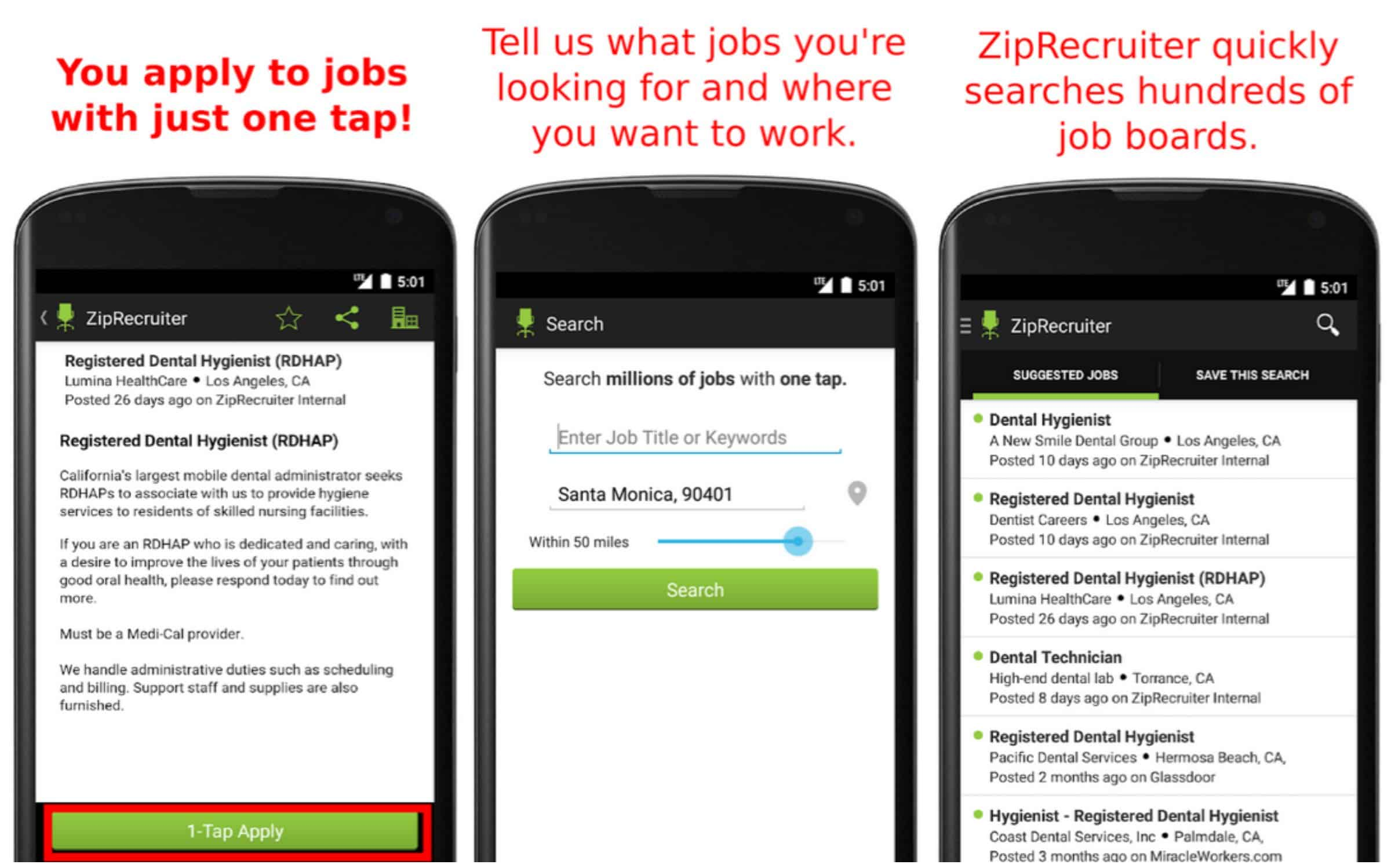 featured top job search apps for android com job search by ziprecruiter