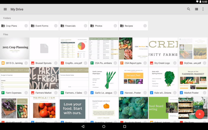 google-drive-android-tablet