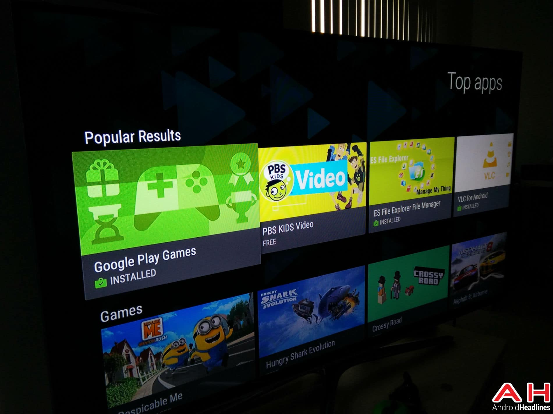 Android TV Play Store Update AH4
