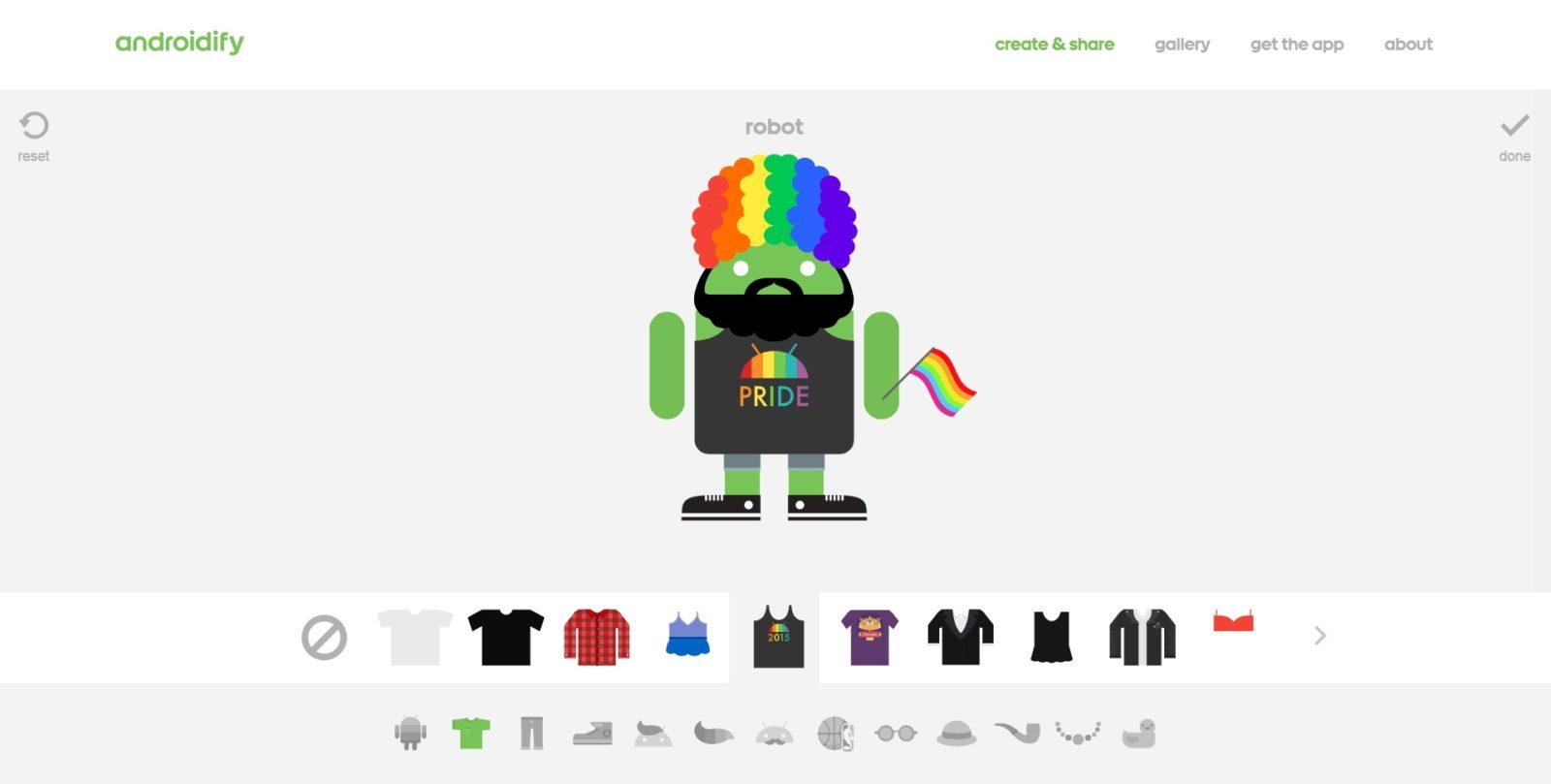 Androidify LGBT 2015