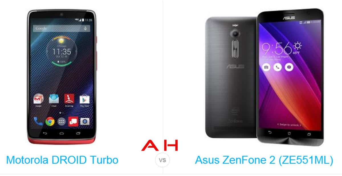 DROID Turbo vs ZenFone 2 cam AH
