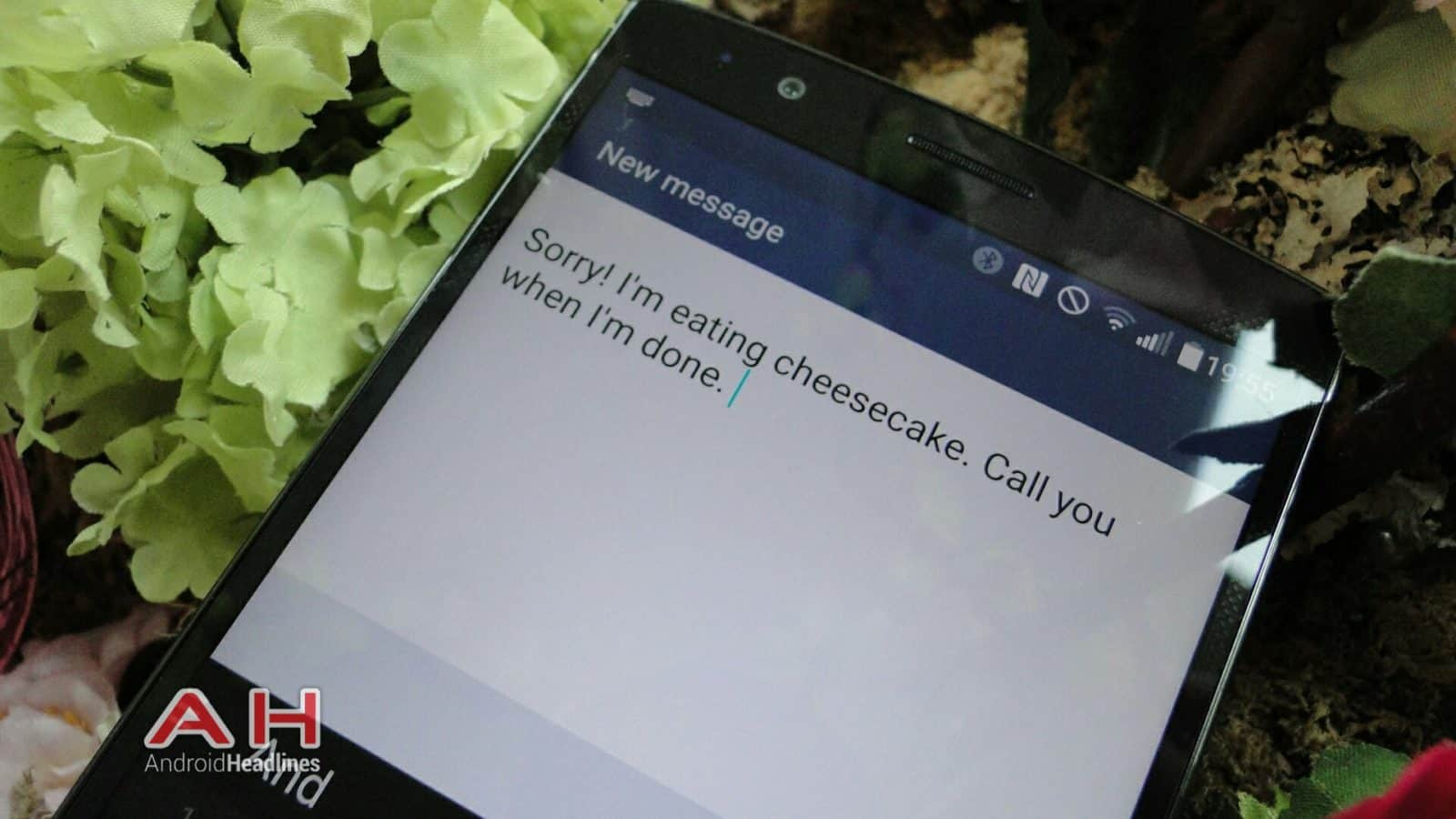 AH LG G4 custom sms reject call message