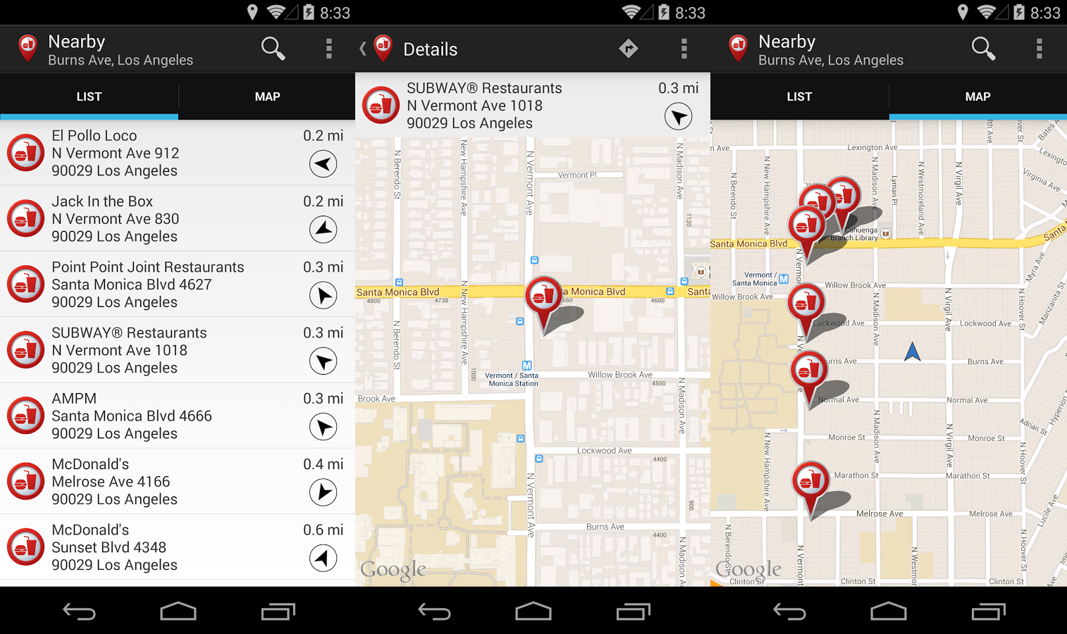 Fast Food Locator Finder