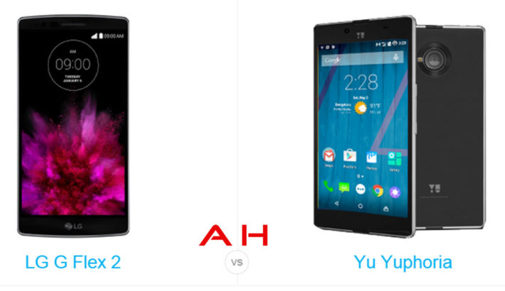 Phone Comparisons: LG G Flex 2 vs Yu Yuphoria