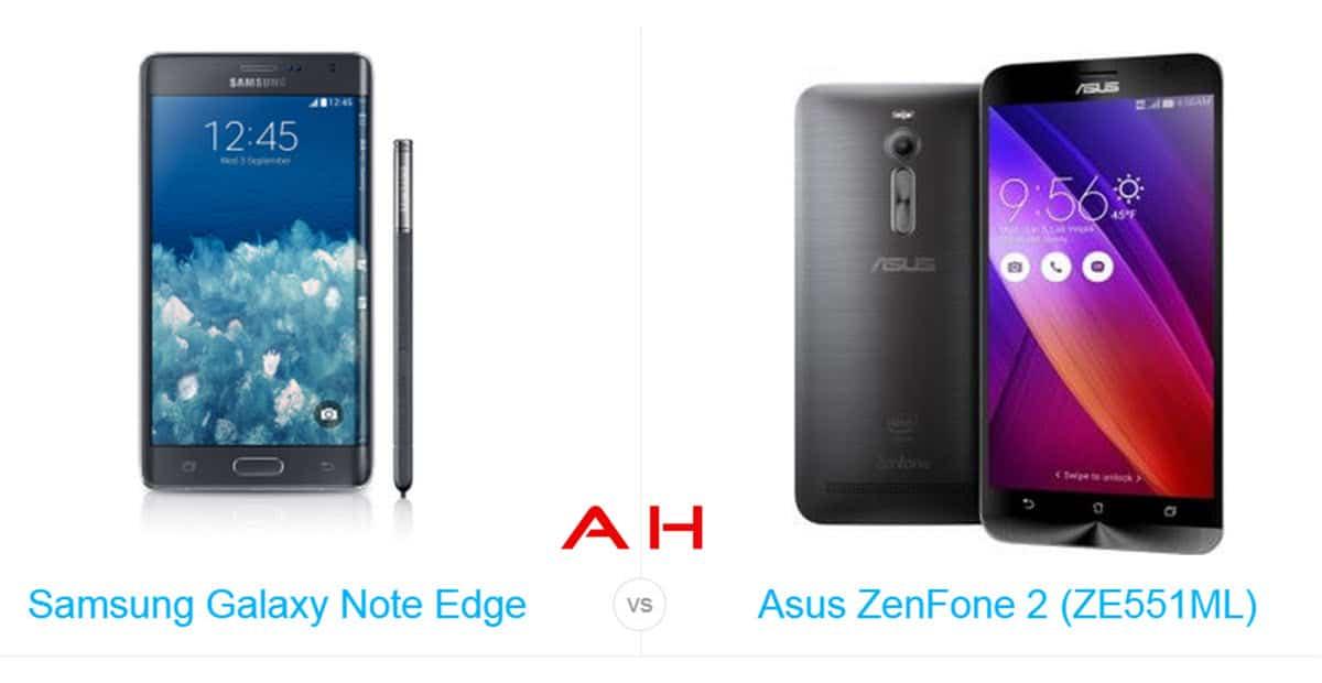 Galaxy Note Edge vs ZenFone 2 cam AH