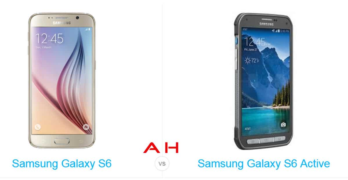 Galaxy S6 vs Galaxy S6 Active cam AH