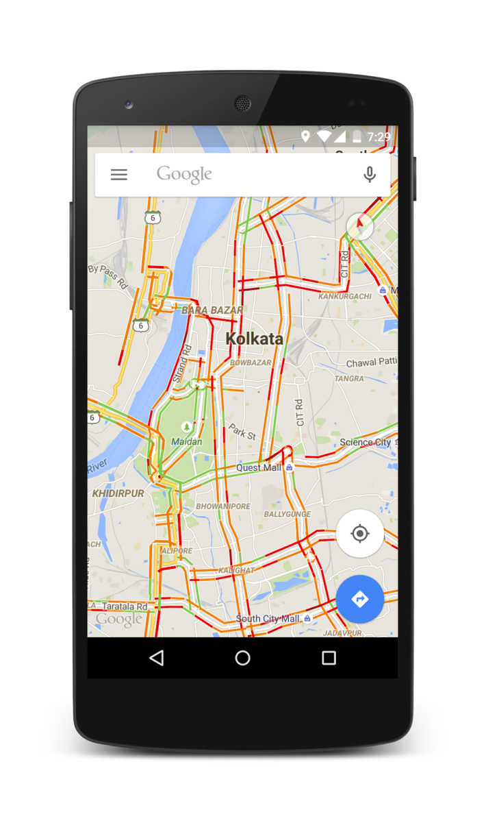 Google's Traffic Info Available In 12 New Indian Cities