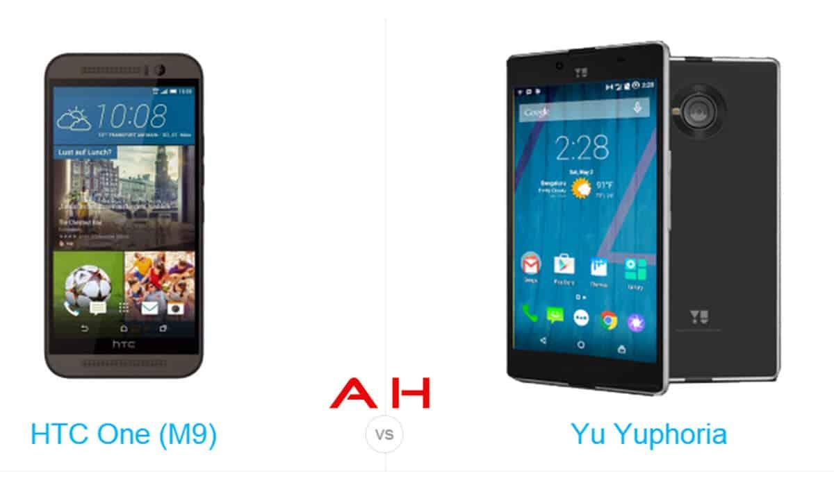 HTC One m9 vs Yu Yuphoria cam AH