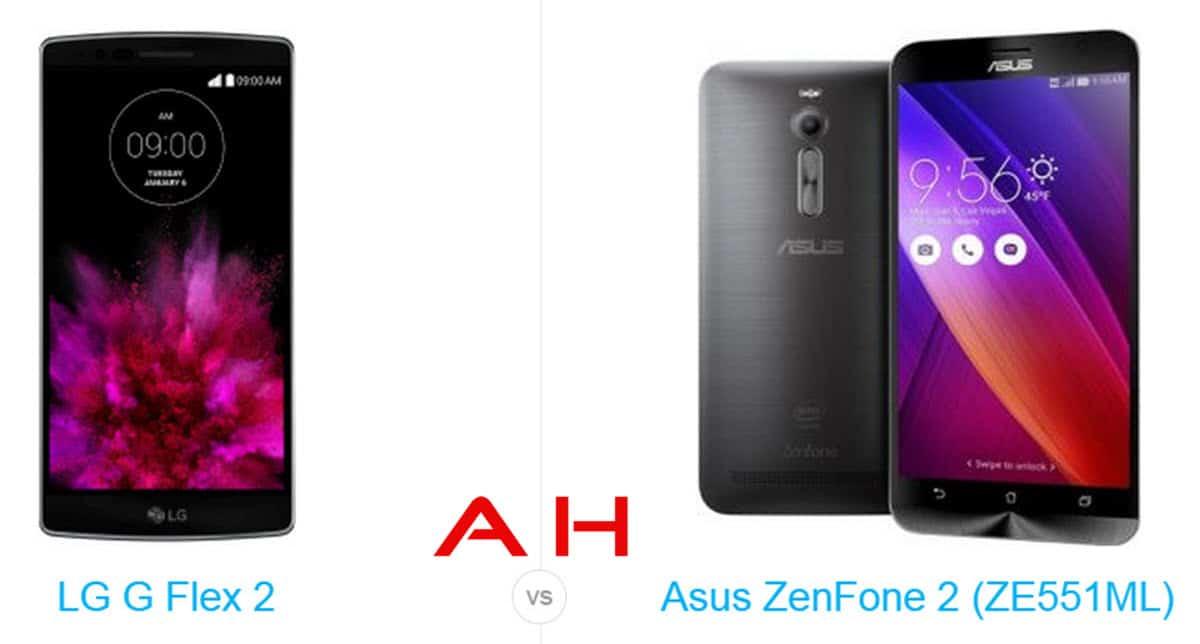 LG G Flex 2 vs USus ZenFone 2 cam AH
