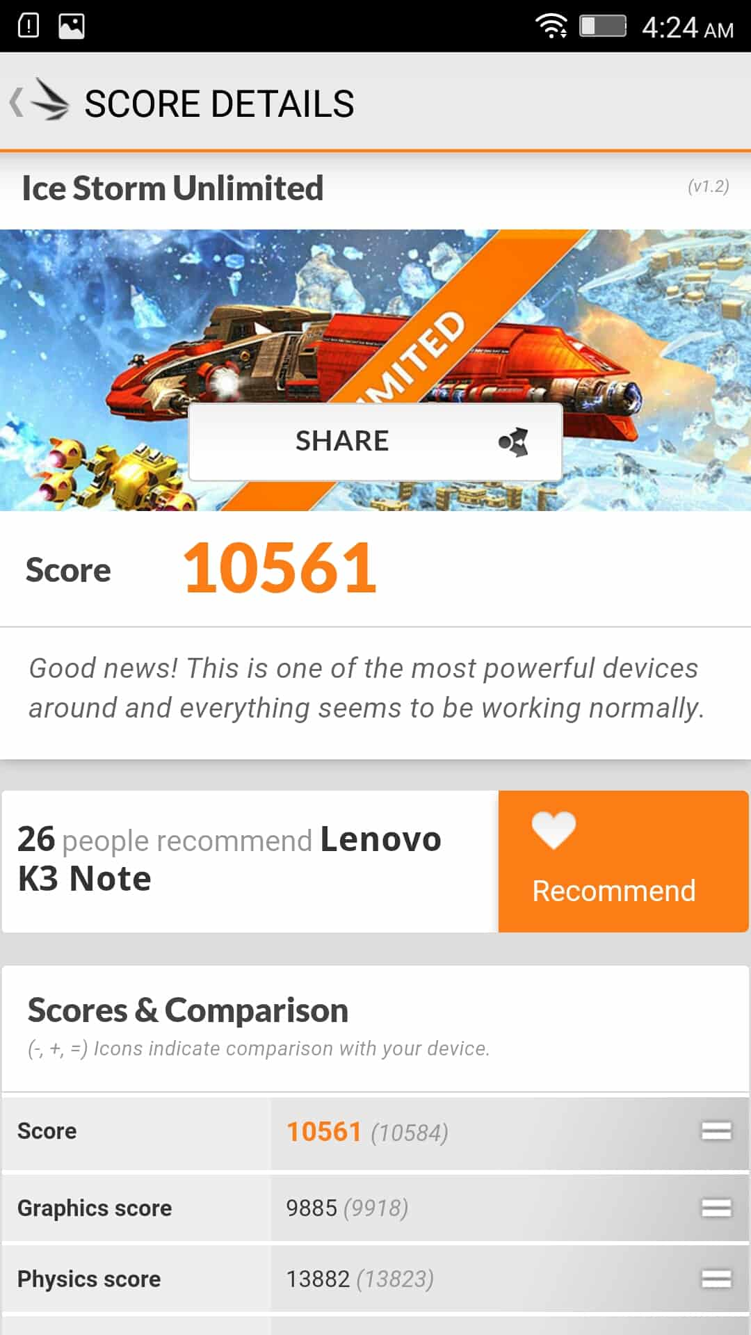 Lenovo K3 Note AH bench 5