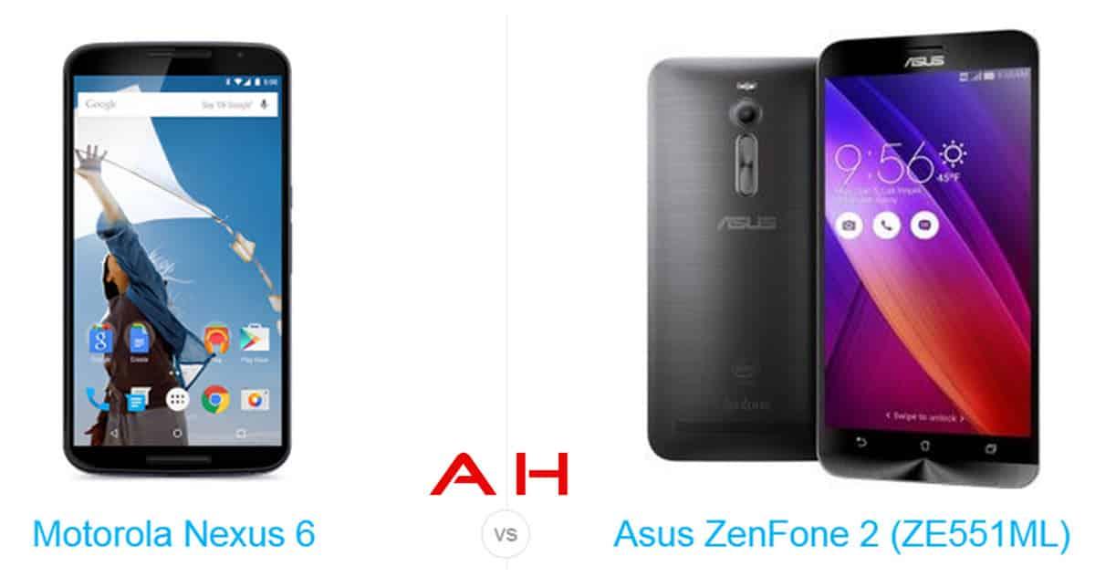 Nexus 6 vs ZenFone 2 cam AH