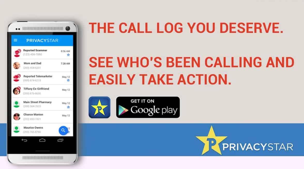 Privacy Star Call Log 1