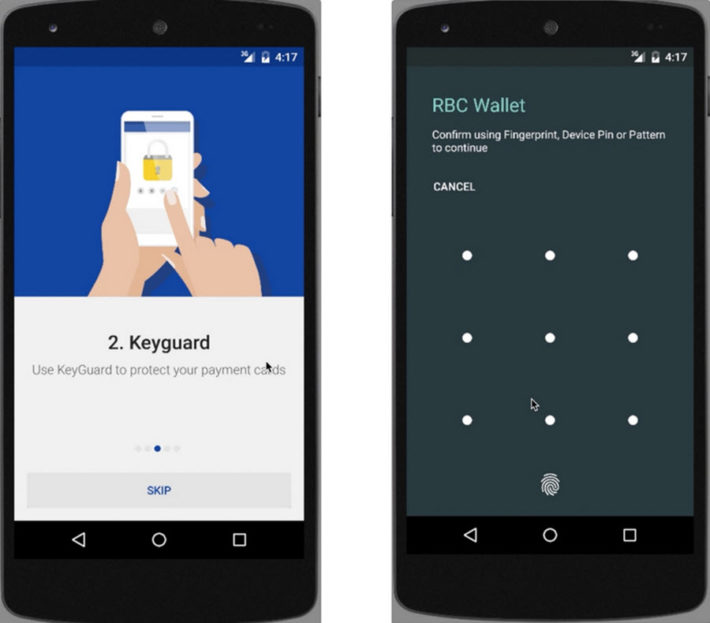 RBC Android M Security in App