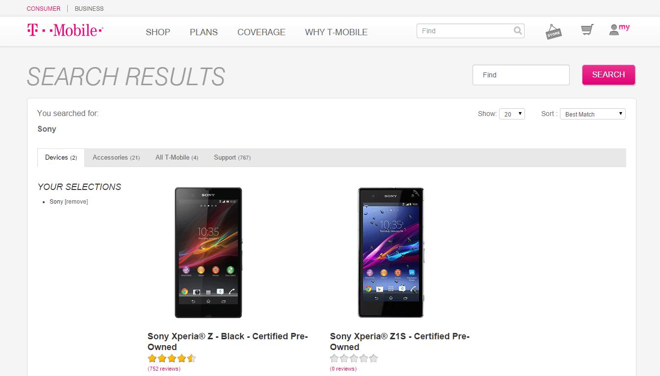 T-Mobile Xperia Z3