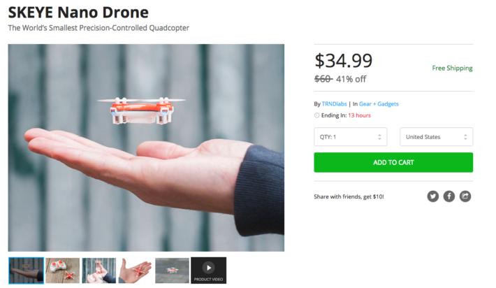Deal: SKEYE Nano Drone on sale for $35