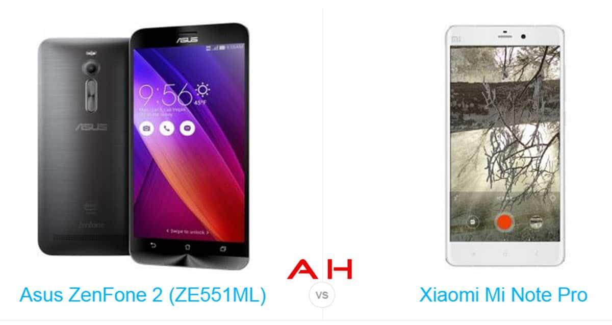ZenFone 2 vs Mi Note Pro cam AH