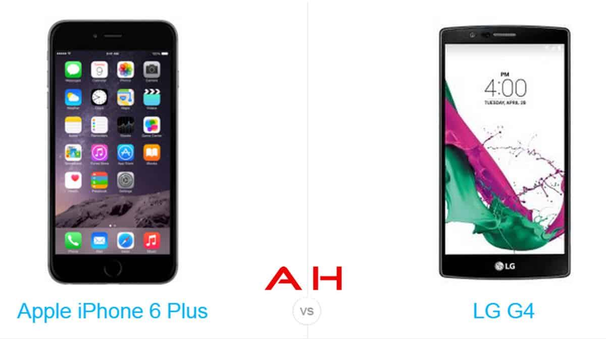 iPhone 6 Plus vs LG G4 cam AH